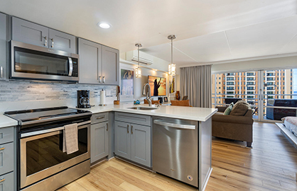 Full Size Kitchen with New Modern Appliances