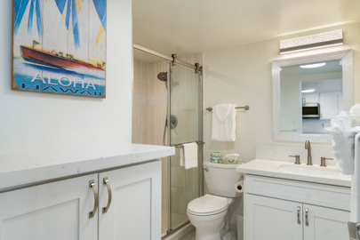 Newly Remodeled Bathroom with Walk in Shower