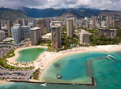 The Ilikai and Waikiki Beach