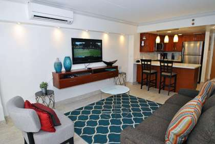 Modern Living Area - Split AC System