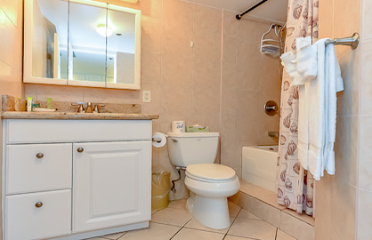 Spacious Upgraded Bathroom