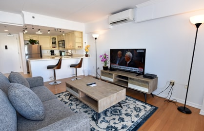 Spacious Living Area - Flat Screen TV