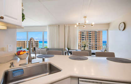 Ocean views from kitchen.