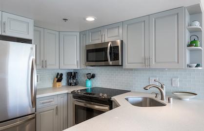 Quartz Kitchen with Stainless Appliances