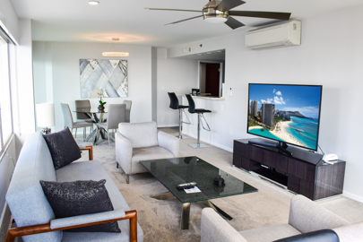Large 65 inch Smart TV in Living Area
