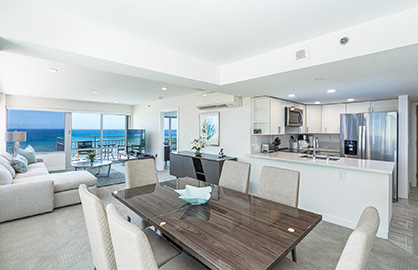 Spacious Living/Dining Area With Stunning Views!