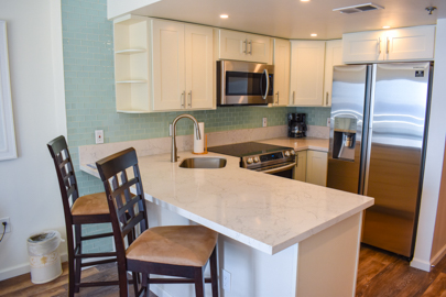 Newly remodeled kitchen counter & cabinets