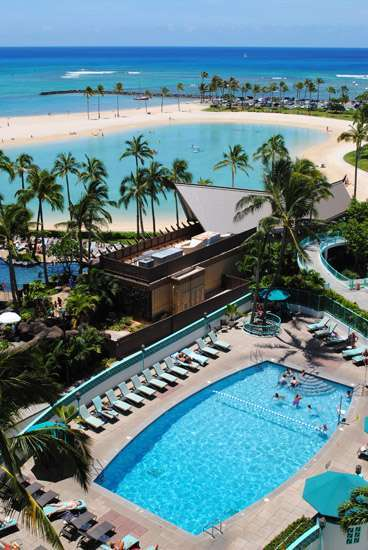Ilikai Pool & Waikiki Beach